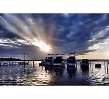 Sunset Rays - Swansea NSW Australia Photographic Print