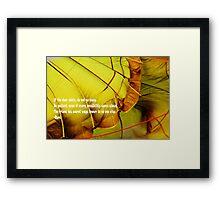 Rumi poem Framed Print