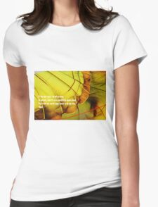 Rumi poem Womens Fitted T-Shirt