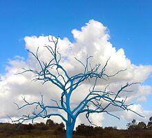 Blue Tree by George Petrovsky