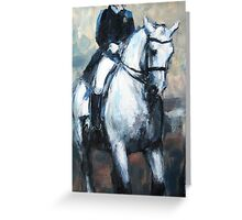 Dressage No.5 - in motion Greeting Card