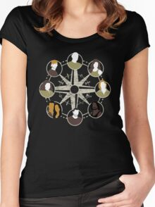 LOST characters compass Women's Fitted Scoop T-Shirt
