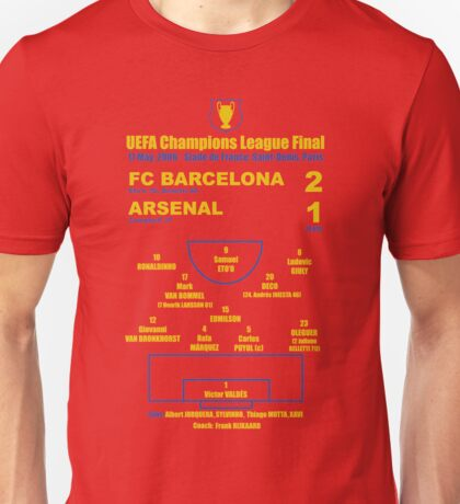 Barça 2-1 Arsenal UCL Final 2006 Unisex T-Shirt