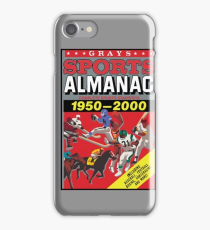NOW IS THE FUTURE - Sports Almanac 2015 iPhone Case/Skin