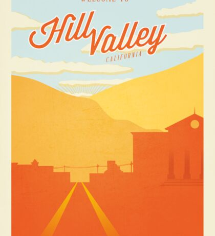 Back to the Future - Welcome To Hill Valley  Sticker