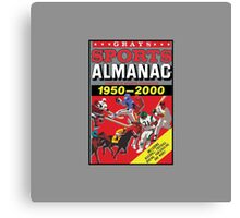 NOW IS THE FUTURE - Sports Almanac 2015 Canvas Print