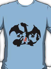 Charmander evolution chart (transparent) T-Shirt