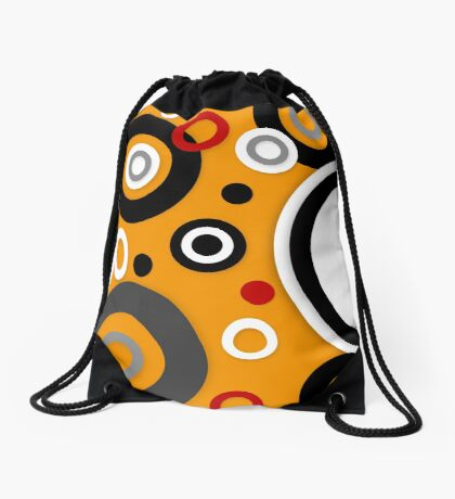 Florescent Orange Abstract Vector  Drawstring Bag