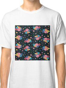 Dark Floral Pattern Classic T-Shirt