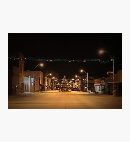 There's a Tree in the Middle of the Road ~Small Town America Photographic Print