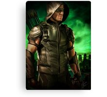 The Vigilante of Starling City- Oliver Queen Canvas Print