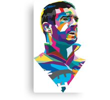 Eric Cantona Colour Portrait Canvas Print