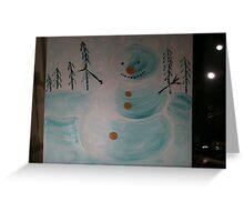 Snowman , a childs dream Greeting Card