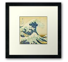 Detail from The Great Wave off Kanagawa Framed Print