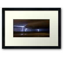 Multiple Strike off Trigg Baach Framed Print
