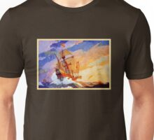 Ships of Christopher Columbus at sea Vintage Unisex T-Shirt