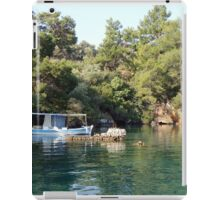 Relaxation and Summer boat iPad Case/Skin