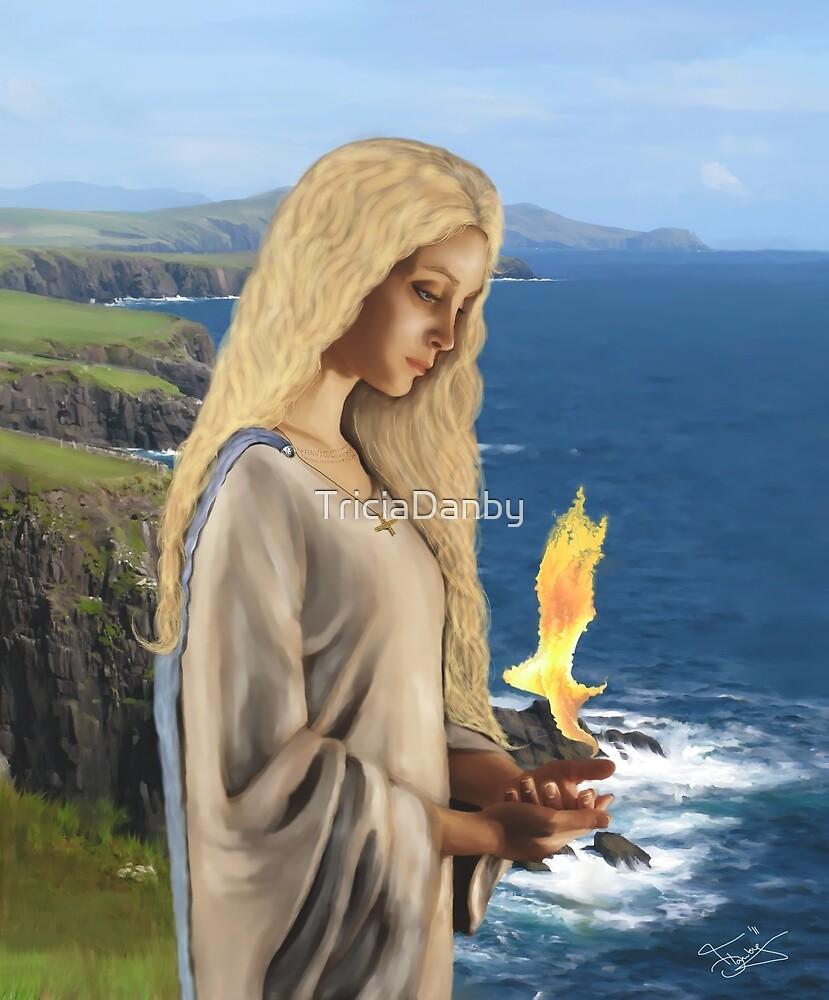 Saint Brigid - Flame of Faith by TriciaDanby