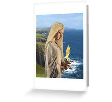 Saint Brigid - Flame of Faith Greeting Card