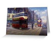 Edinburgh tram. Greeting Card