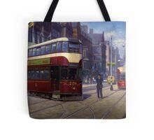Edinburgh tram. Tote Bag