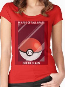 In Case of Tall Grass, Break Glass Women's Fitted Scoop T-Shirt