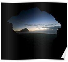 Sea Cave, O'Neills Beach Poster