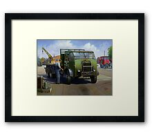 Post Office Engineering Foden. Framed Print