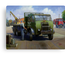 Post Office Engineering Foden. Canvas Print
