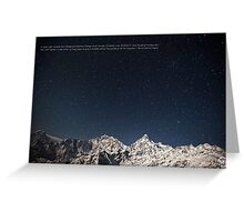 Annapurna Salute Greeting Card