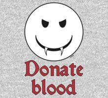 Donate Blood - Vampire Smiley Baby Tee