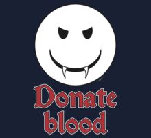 Donate Blood - Vampire Smiley One Piece - Short Sleeve