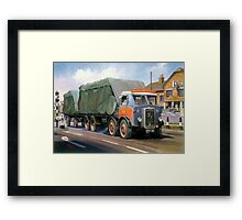Atkinson eight-wheeler and drag. Framed Print