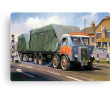 Atkinson eight-wheeler and drag. Canvas Print