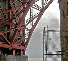 Under The Golden Gate Bridge At Fort Point by Scott Johnson