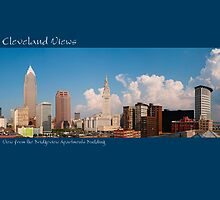 View of Cleveland from the Bridgeview Apartments Building by Bob  Perkoski