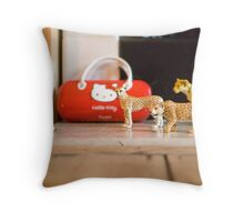 sitting room safari Throw Pillow