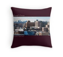View of Cleveland from atop the Tudor Arms Throw Pillow