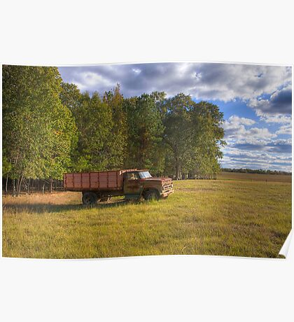 Old Farm Truck Poster