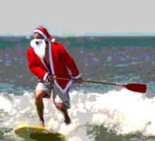 Surfing Santa SUP Sticker