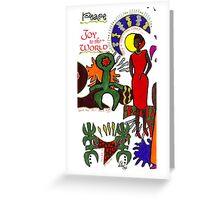 Joy and Peace Christmas Card Greeting Card