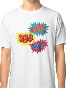 Biff!!! Sock! Kapow! Popart Classic T-Shirt