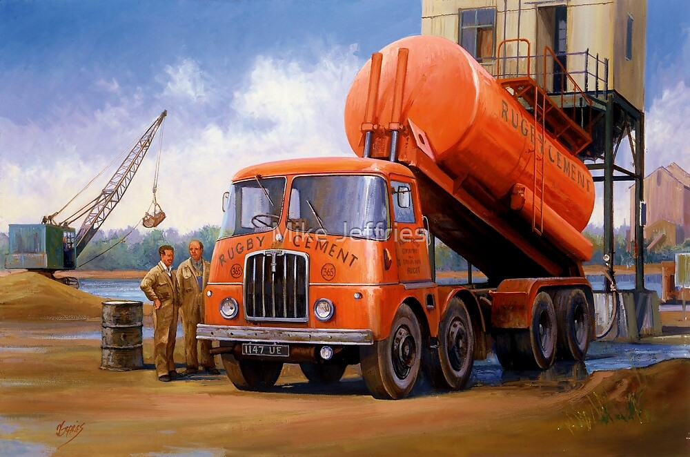 Rugby Cement Thornycroft tanker. by Mike Jeffries