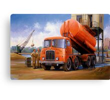 Rugby Cement Thornycroft tanker. Canvas Print