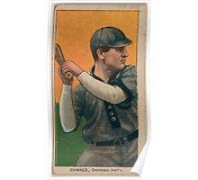 Benjamin K Edwards Collection Frank Chance Chicago Cubs baseball card portrait 002 Poster