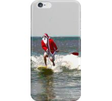 Surfing Santa SUP iPhone Case/Skin