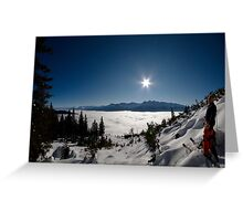 Freeskiing Greeting Card