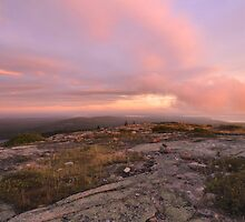 Dawn On Cadillac Mountain by Stephen Vecchiotti