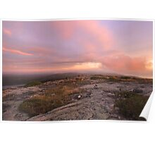 Dawn On Cadillac Mountain Poster