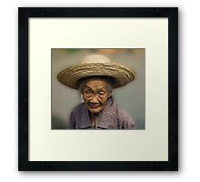Old Face Of China Framed Print